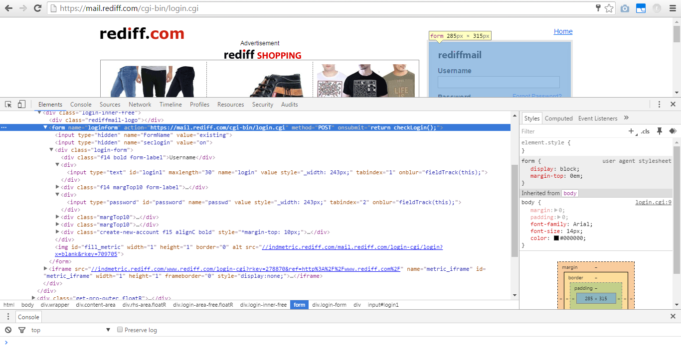 Jsoup login to website using post method example - Java Code